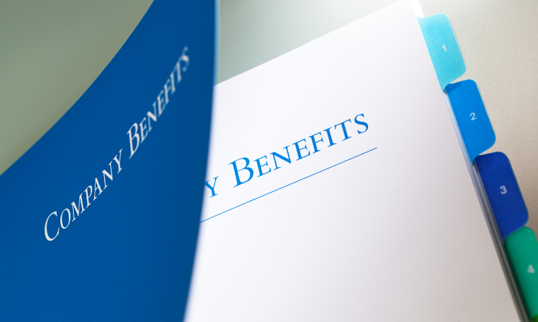 Company benefits book