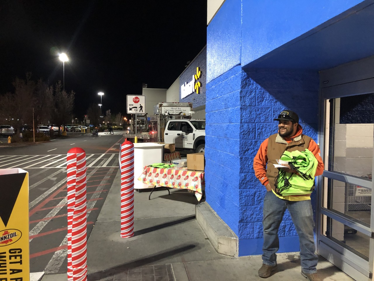 Man standing outside of Wal-Mart