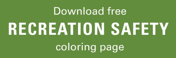 Click here to Download free recreation safety coloring page