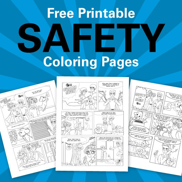 Free printable safety coloring pages