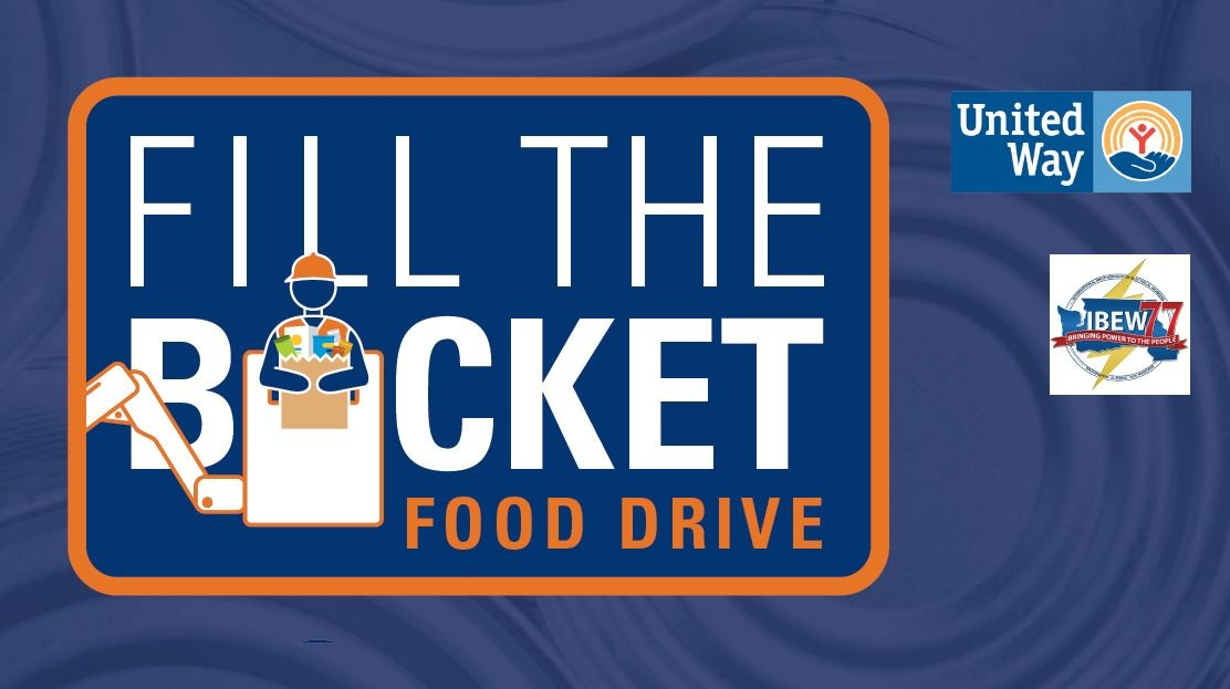 Fill the Bucket Food Drive logo