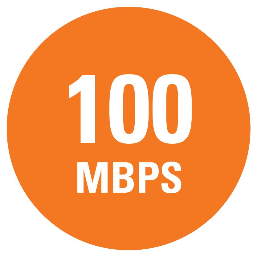 100 MBPS speed