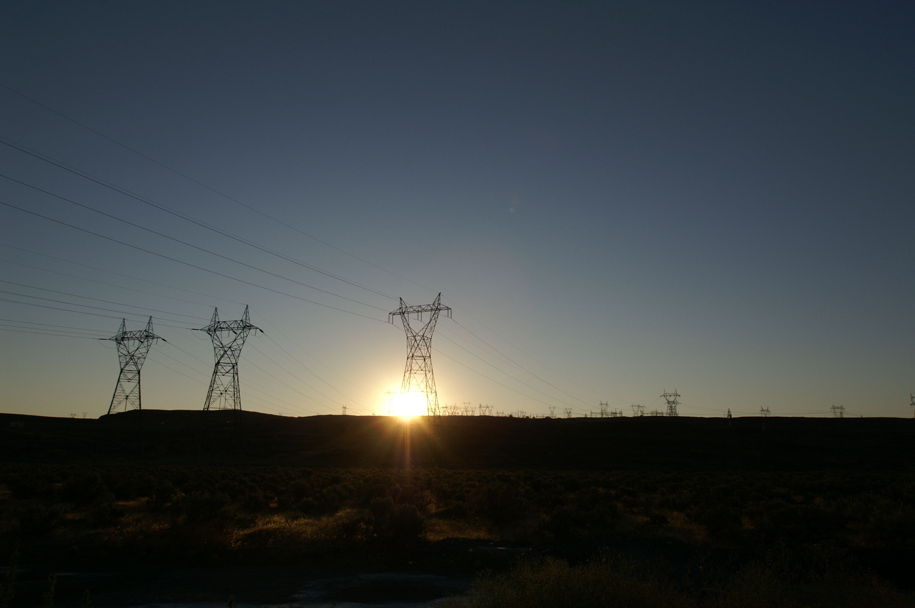 Transmission Tower - Sunset